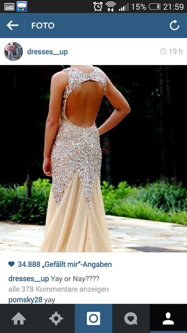 silver glitter silver dress open back dresses champagne dress champagne prom dress prom dress prom dress prom dress ball gown dress evening dress