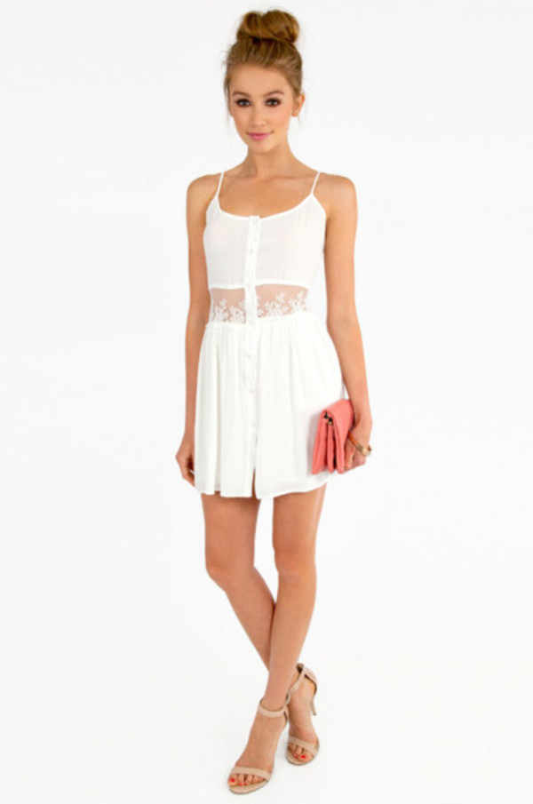 dress white dress tobi sold out cute dress