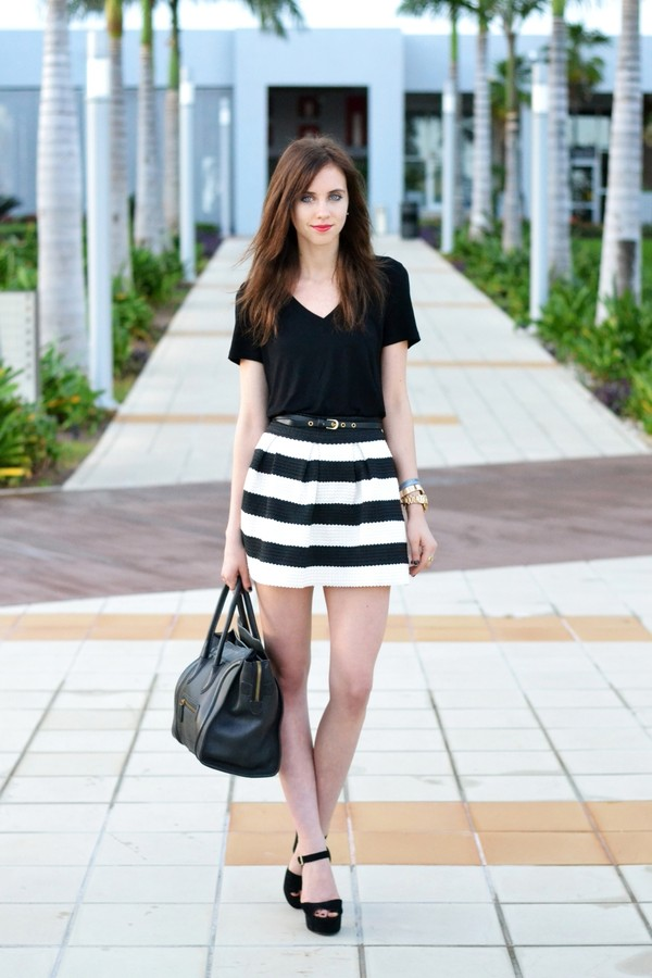 vogue haus t-shirt skirt shoes bag jewels