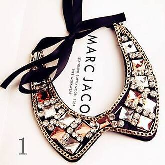 jewels necklace col claudine marc jacobs strass stones necklace