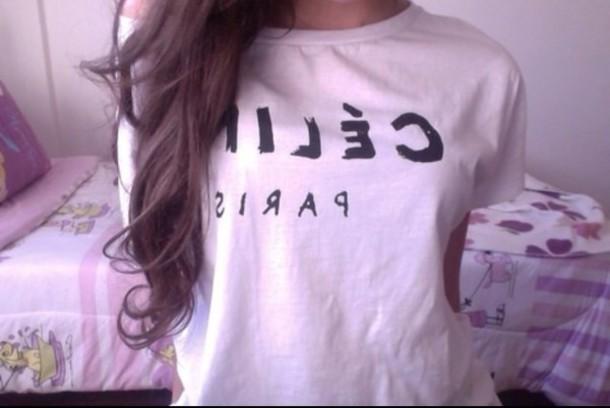 shirt t-shirt paris @paris summer outfits white top celine