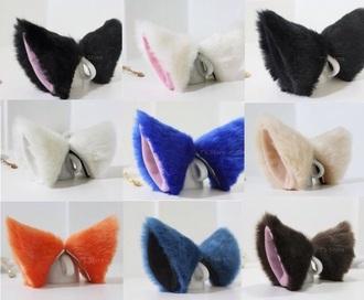 hair accessory cute hair cat ears fluffy cute hair clip