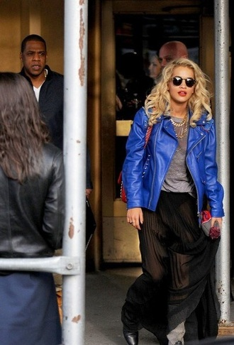 jacket royal blue biker biker jacket leather jacket leather rita ora leather motorcycle jacket motorcycle jacket