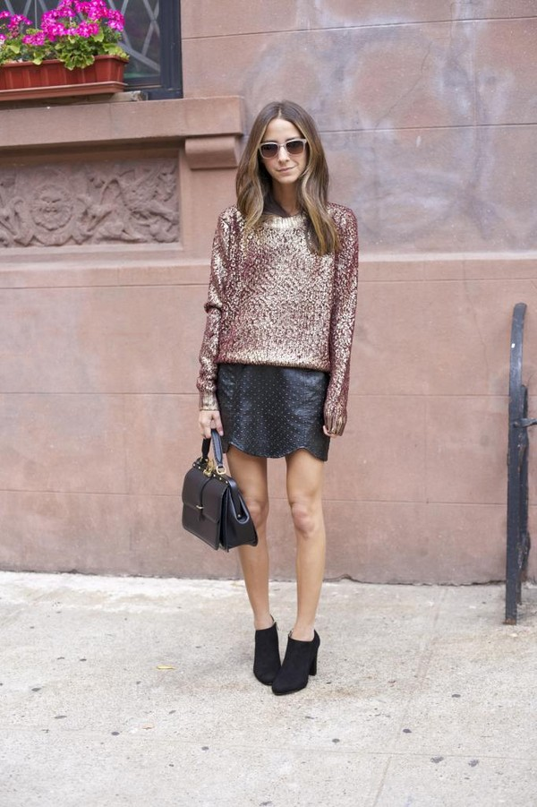 something navy sweater skirt bag sunglasses shoes