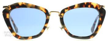 Miu Miu 10NS Noir Sunglasses : 10NS Noir Yellow Havana 7S00A2 : UK