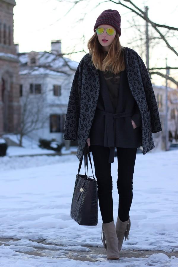jess style rules t-shirt coat hat jeans bag sweater shoes
