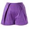 Purple silky summer shorts - retro, indie and unique fashion