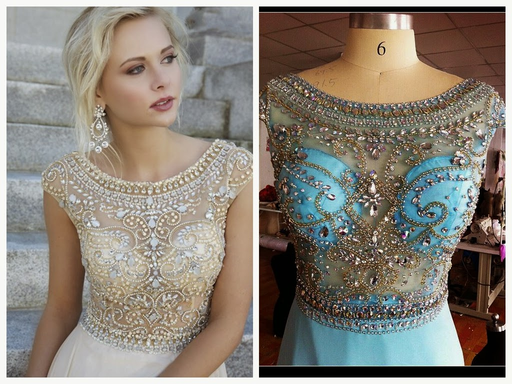 Celebrity prom dress: Jewel Crystal Prom Dress Beading With Cap Sleeves Chiffon $159 each at Celesbsuy.net
