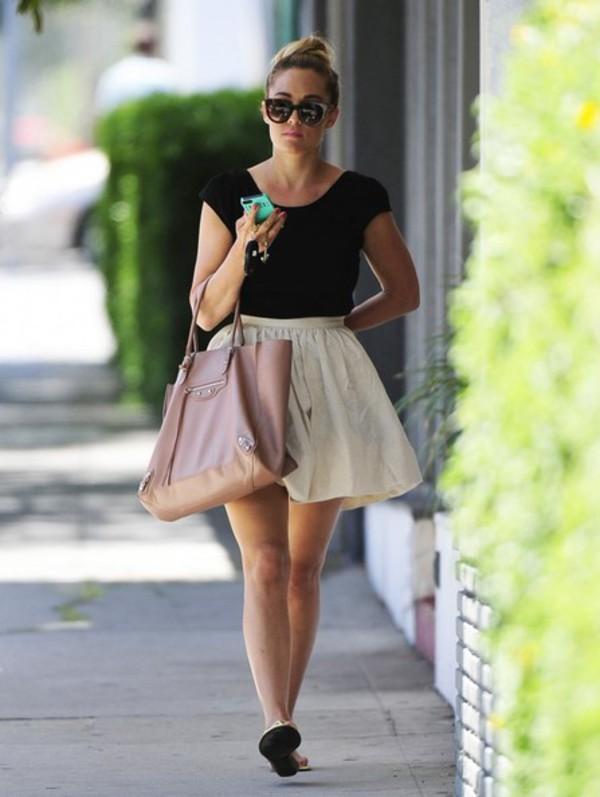 shoes lauren conrad skirt bag top