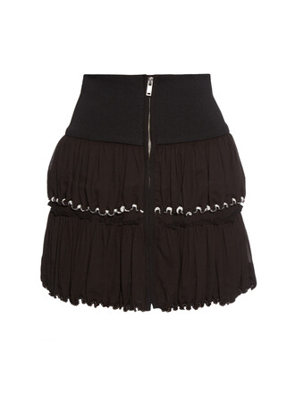 skirt zip cotton black