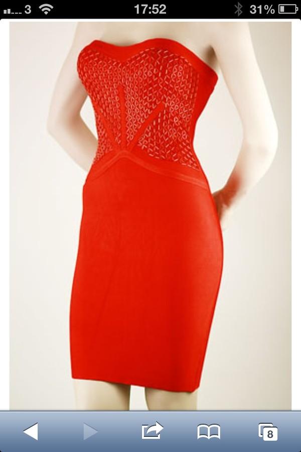 dress red sequin bandage dress