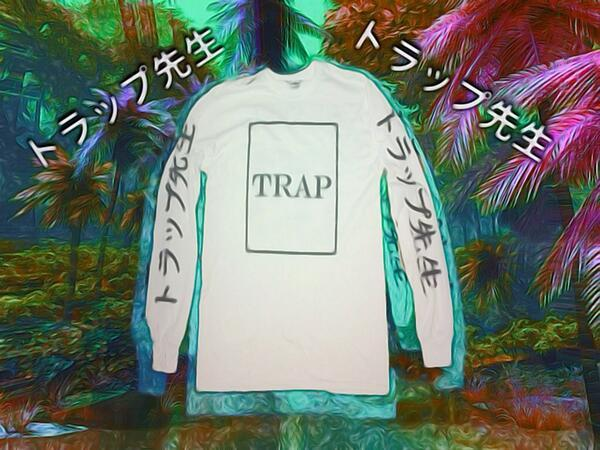 TRAP SENSEI LONG SLEEVES (WHITE) / TRAPSENSEI