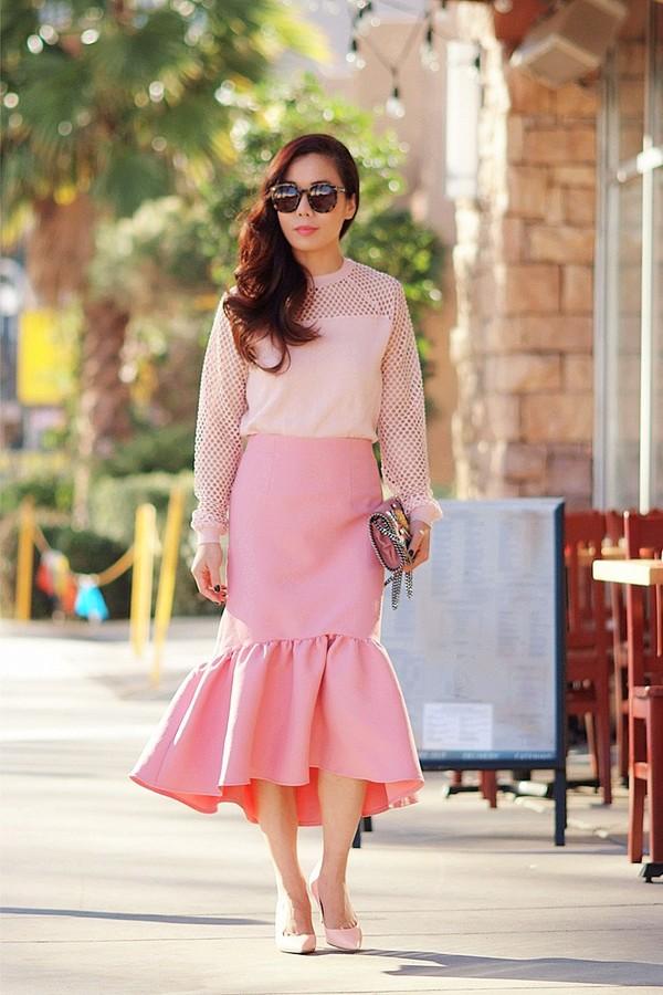 hallie daily skirt t-shirt shoes bag sunglasses
