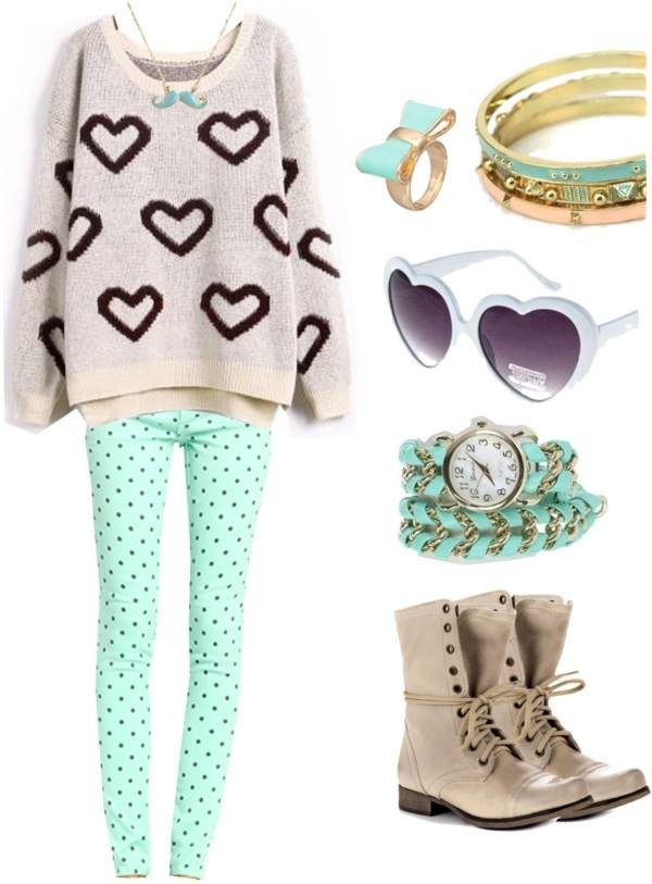 sweater boots mint shoes jewels brown