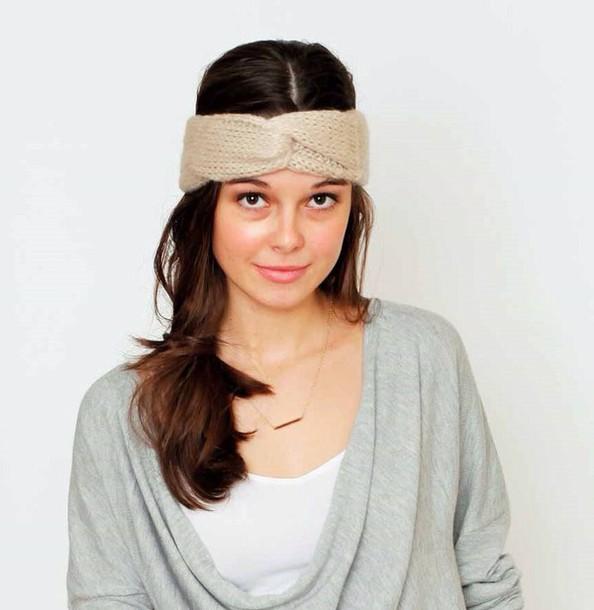 hair accessory knit headband turban