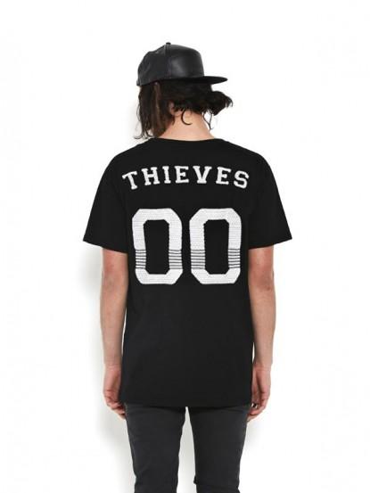 NANA JUDY THIEVES 00 BACK MESH PRINT TALL TEE BLACK  - T-Shirts - Tops - Mens  - Nana Judy and Friends