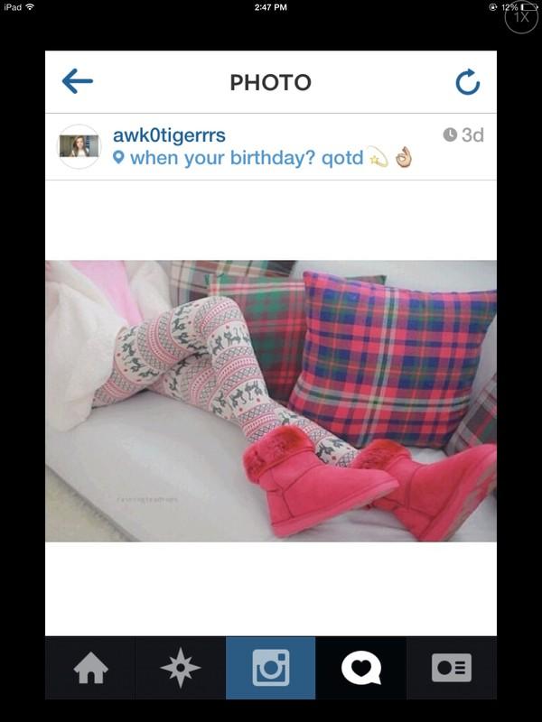 pants leggings pink white cute girly