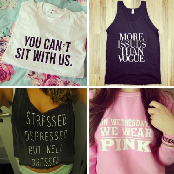 t-shirt sweater skreened shirt mean girls