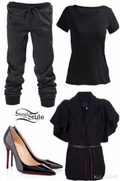 pants sweatpants black sweatpants