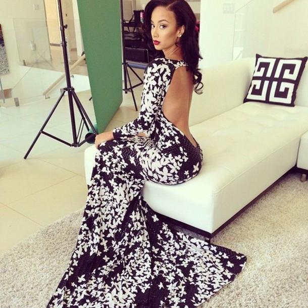 dress fishtail dress lowback dress