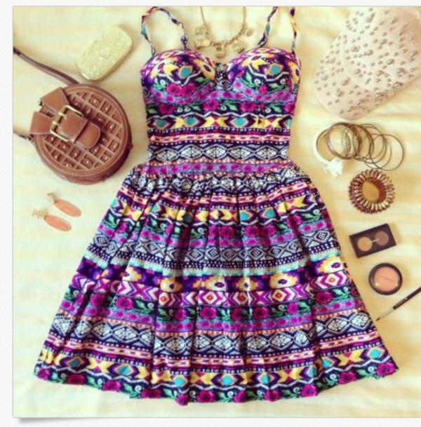 dress hipster floral cute dress summer dress inka