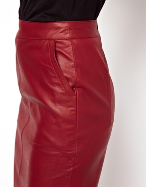 ASOS | ASOS Pencil Skirt in Leather at ASOS