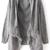 Grey Long Sleeve Tassel Loose Cardigan Sweater - Sheinside.com