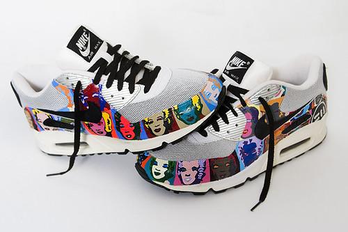 Custom Kicks - Nike Air Max 90 Andy Warhol/Marilyn Monroe | KicksOnFire.com