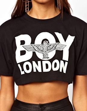 BOY London | BOY London Cropped T-Shirt at ASOS