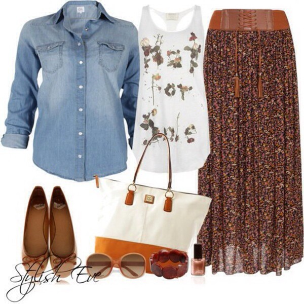 skirt brown and flowy