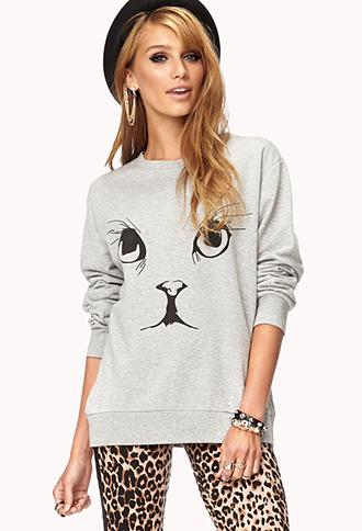 Playful Kitten Sweatshirt | FOREVER21 - 2000075802