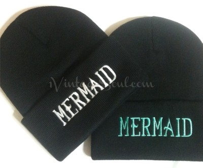 MERMAID Black Beanie · 1 Vintage Soul · Online Store Powered by Storenvy
