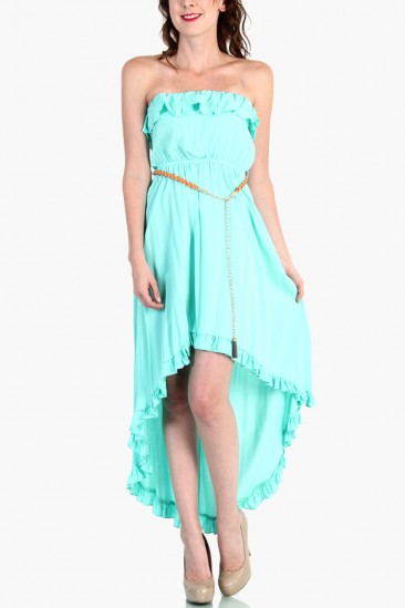 LoveMelrose.com From Harry & Molly | CUTE HI - LOW DRESS - Mint
