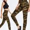 Camouflage printed elastic waist yoga sport casual leggings for women