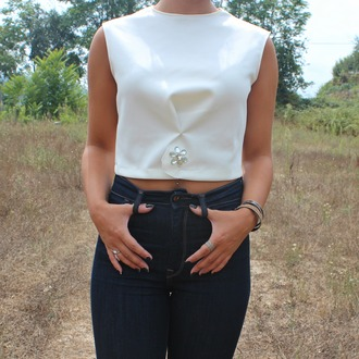 top collection pre-fall fashion diwia details crop tops white crop tops