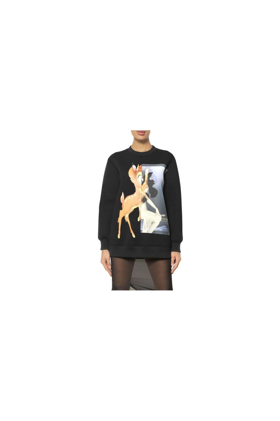 EBBA Bambi Pattern Spliced Top  Black  In Clothing   JESSICABUURMAN [7752] - $75.00 : JESSICABUURMAN.COM