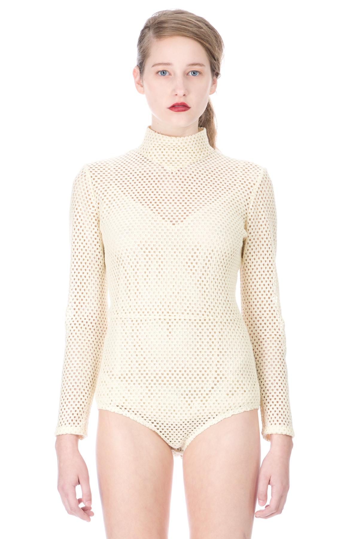 VERONIQUE LEROY MESH HIGH NECK LONG-SLEEVE BODYSUIT - WOMEN - VERONIQUE LEROY - OPENING CEREMONY