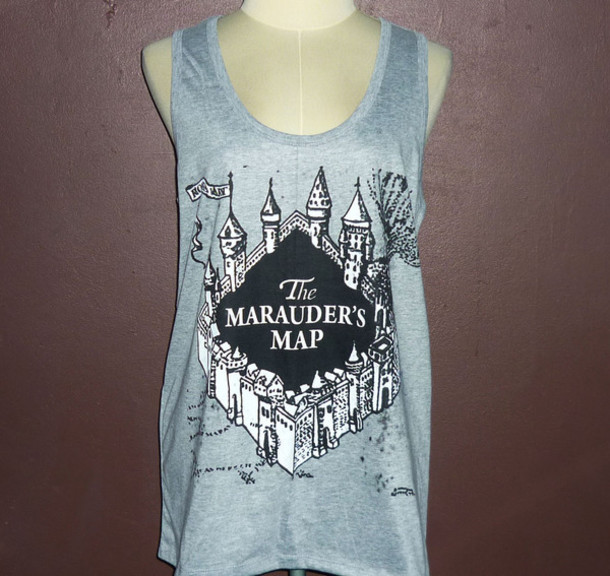 Marauder\'s Map Shirt tank top, tank top, the marauder's map, workout, funny gym shirts  Marauder\'s Map Shirt