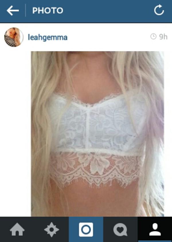 shirt bralette bralette lace white crop tops underwear