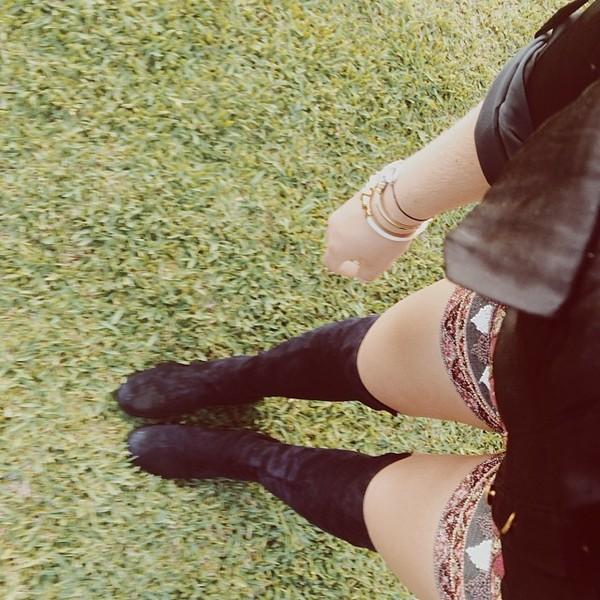 shoes alli simpson boots black shorts embroidered bracelets blazer jewels