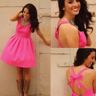 dress pink dress bright pink