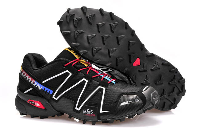 Salomon Speedcross 3 trail running shoes For Men Outdoor Athletic Sports Shoe black silver red