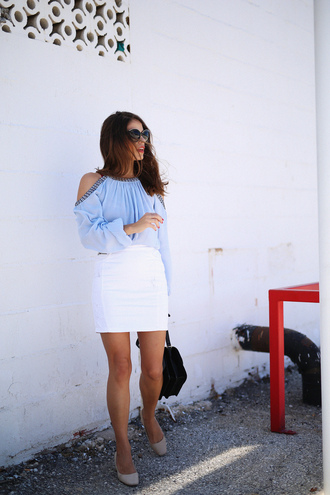 seams for a desire blogger top skirt shoes bag sunglasses jewels
