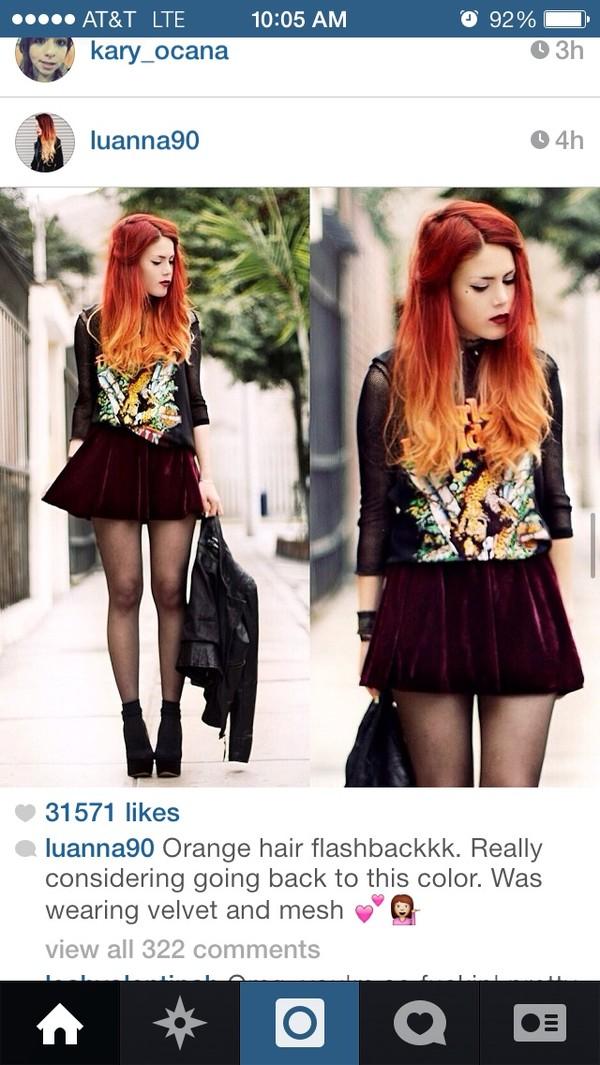 skirt velvet skirt