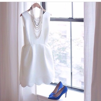 dress white scallop white dress j crew shoes white scalloped dress white scalloped scallop hem scalloped dress cocktail dress sleeveless scallops scalloped edges classy graduation dress tank top style prom dress wedding dress cocktail short dress girl cute