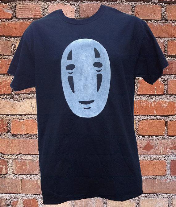 NoFace Spirited Away TShirt by HallionClothing on Etsy