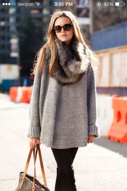 sweater grey sweater