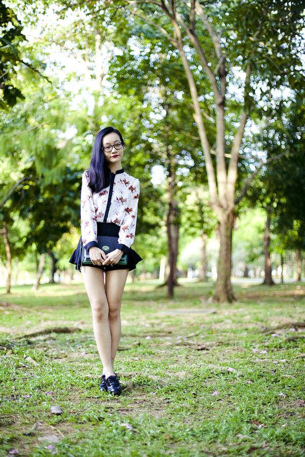pupuren blouse bag shoes