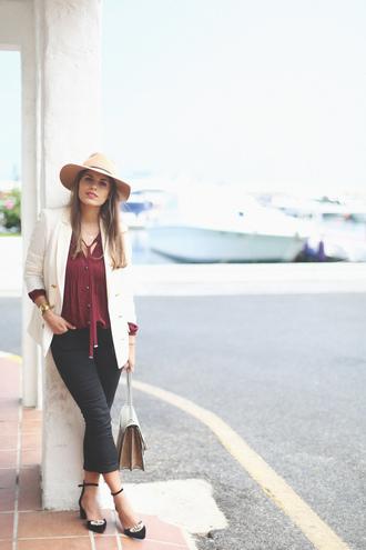 seams for a desire blogger jacket blouse jeans shoes hat bag