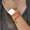Sedona natural stone leather wrap bracelet